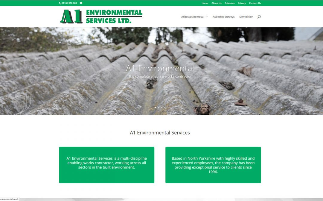 New website for A1 Environmental