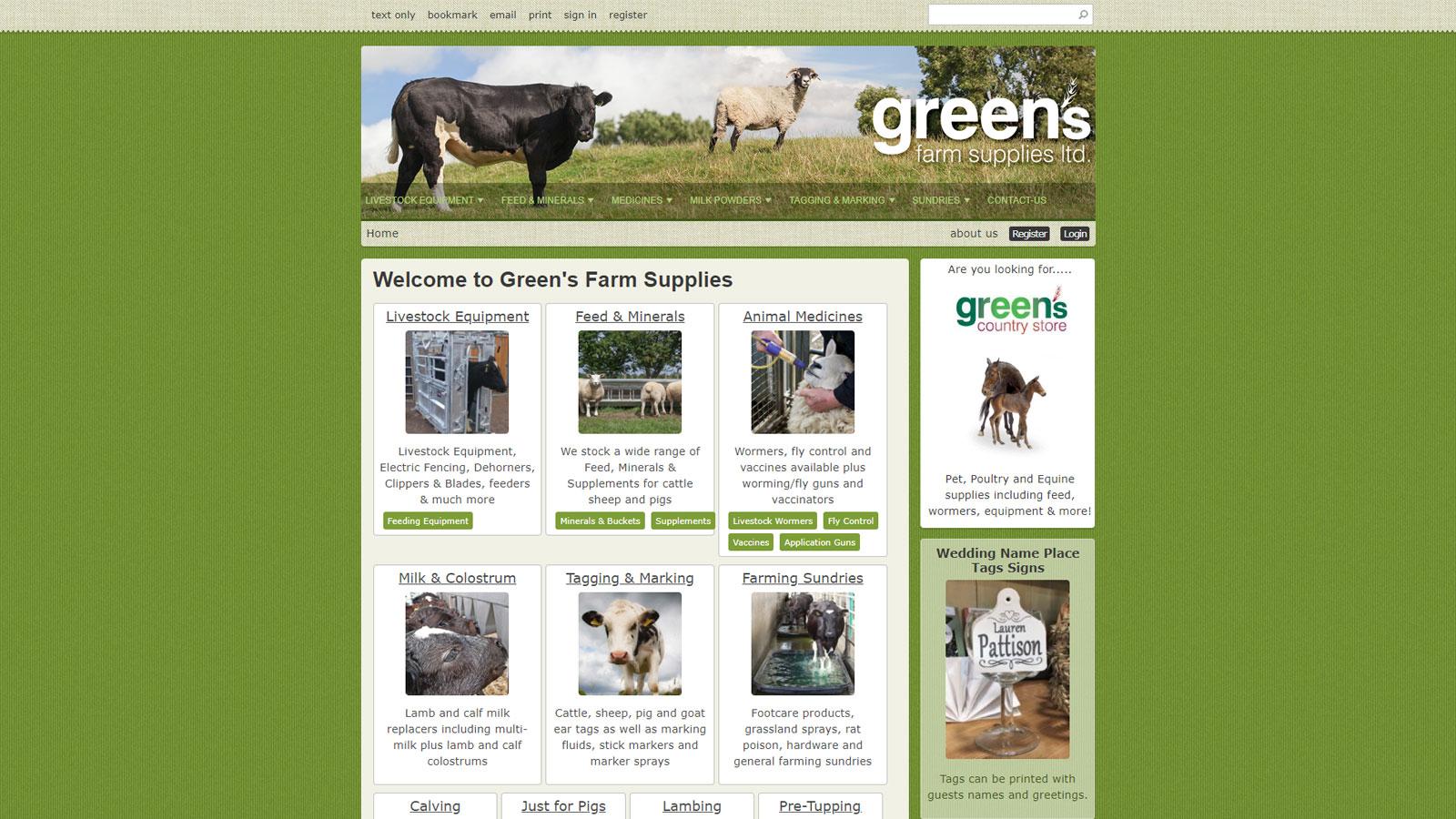 www.greensfarmsupplies.co.uk