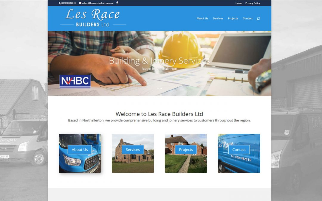 New website for Les Race Builders